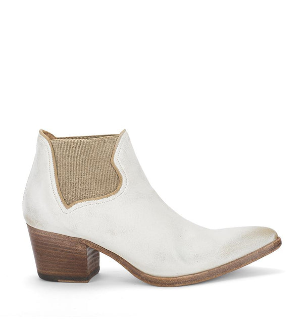 XENIA 52032<br>White texan inspired boots