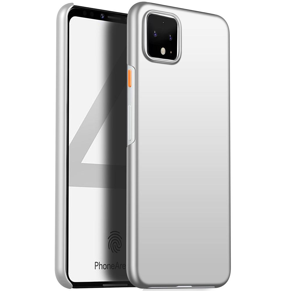 Pixel 4 Case Full Body Protective Dropproof Frosted Case Ultra Thin Cover Silver