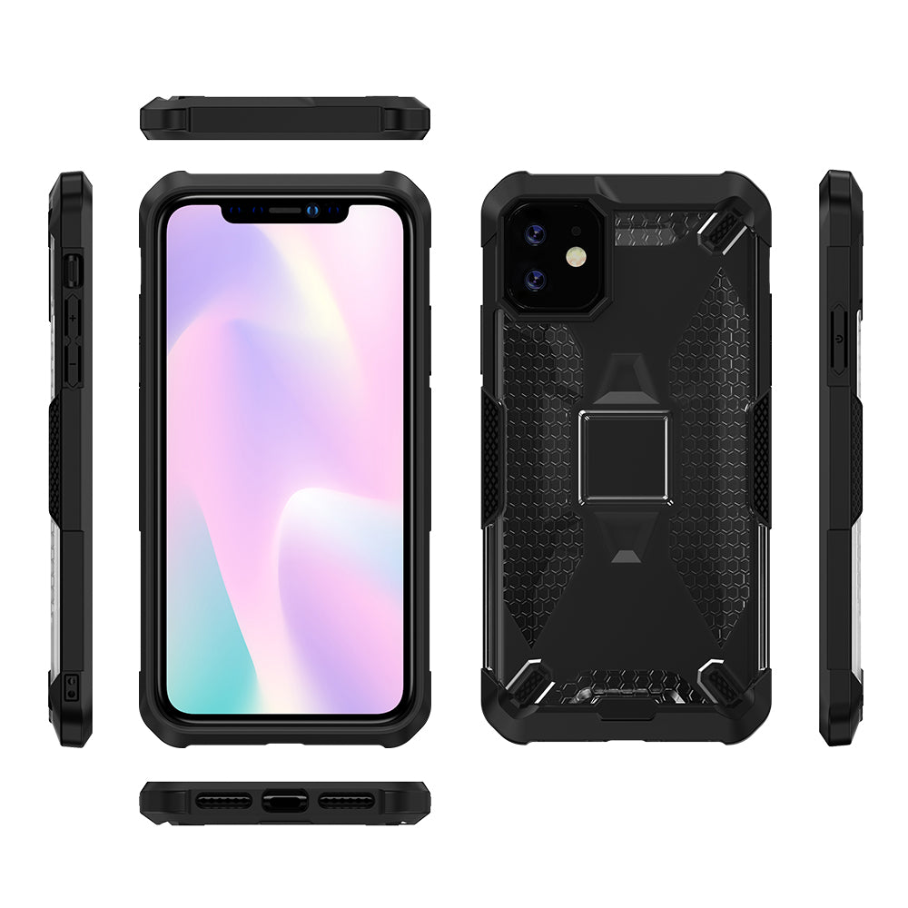 iPhone 11 Pro Max Case Hybrid Heavy Duty Protection Phone Cover Black