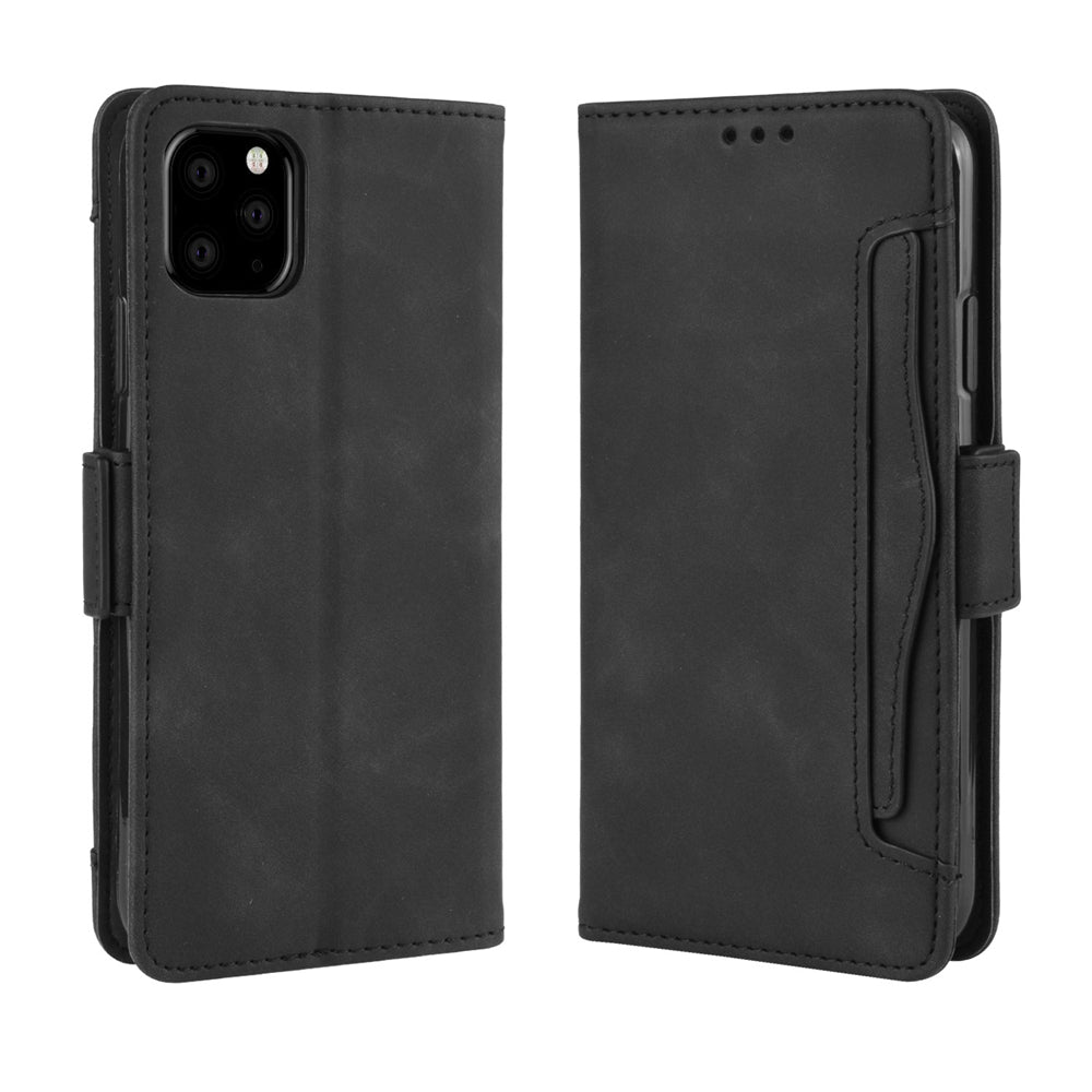 iPhone 11 Pro Leather Case Multiple Card Holder Wallet Protective Cover Black