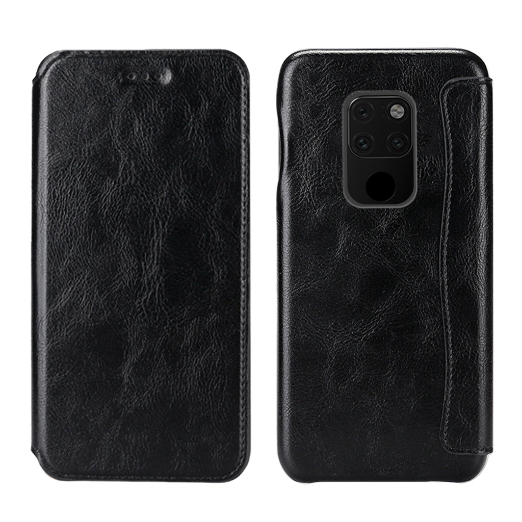 Huawei mate 20 Case Leather Wallet with Card Slot Shockproof Flip Cover Black