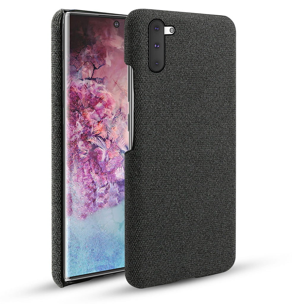 Samsung Galaxy Note 10 Fabric Case PC Slim Phone Cover Black