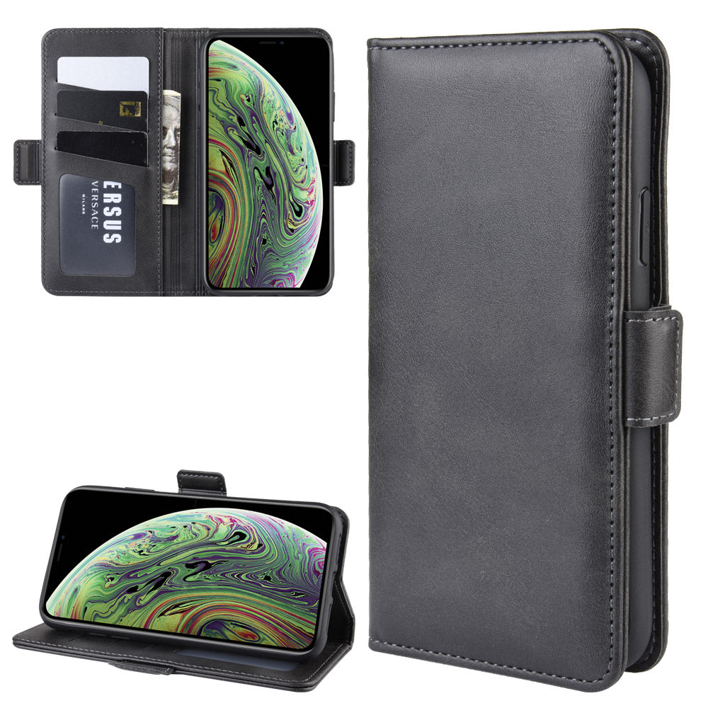 iPhone 11 Wallet Case PU Leather Cover with ID Card Holder Stand Wallet Black