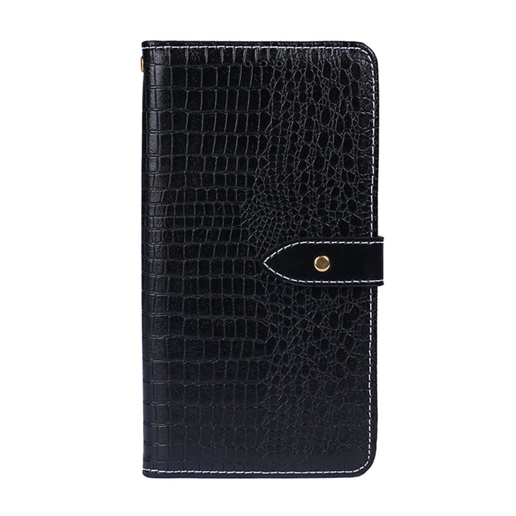 Leather Case for Galaxy Note 10 plus Rugged Flip Wallet with Credit Card Slot Black