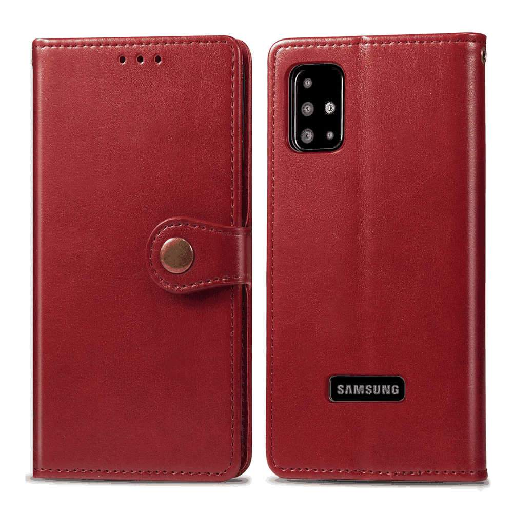 Samsung Galaxy A51 Wallet Case Multi-Function Credit Card Holders Flip Wallet Leather Purse Cover Red
