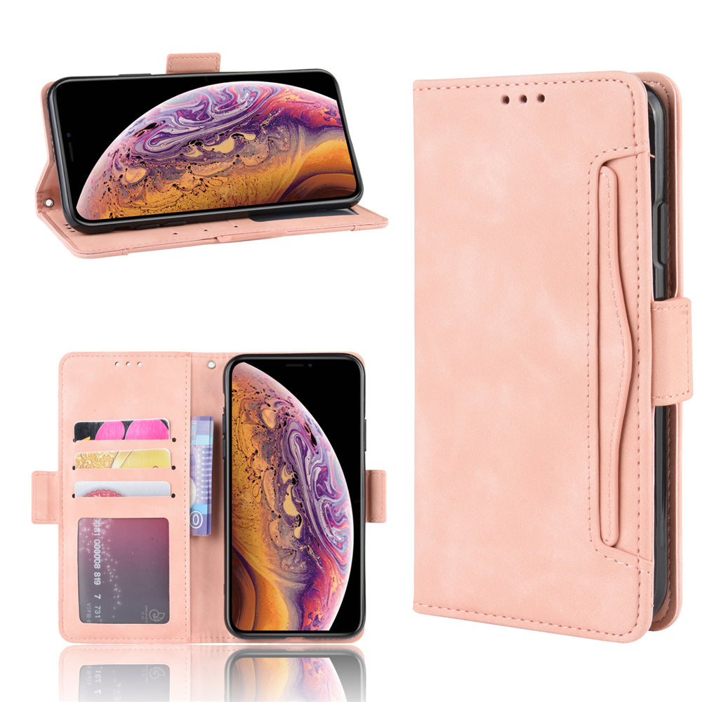 iPhone 11 Wallet Case Leather Silk Cover with Multiple Card Holder for Lady Pink