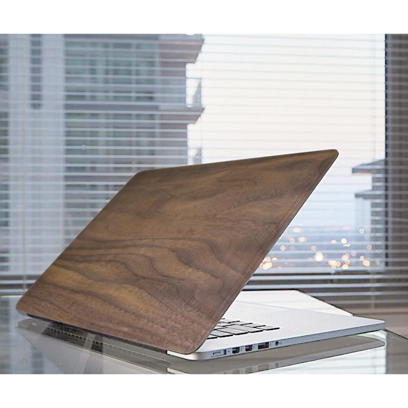 MacBook Pro 16 Inch Case Bamboo Grain Scratch Resistant Laptop Protector Cover Shell (Walnut Color)