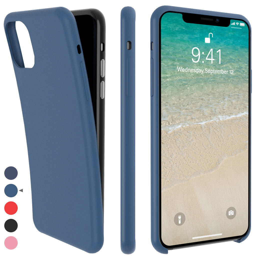 iPhone 11 Pro Max Case Silicone Shock Absorption Protection Cover Navy Blue