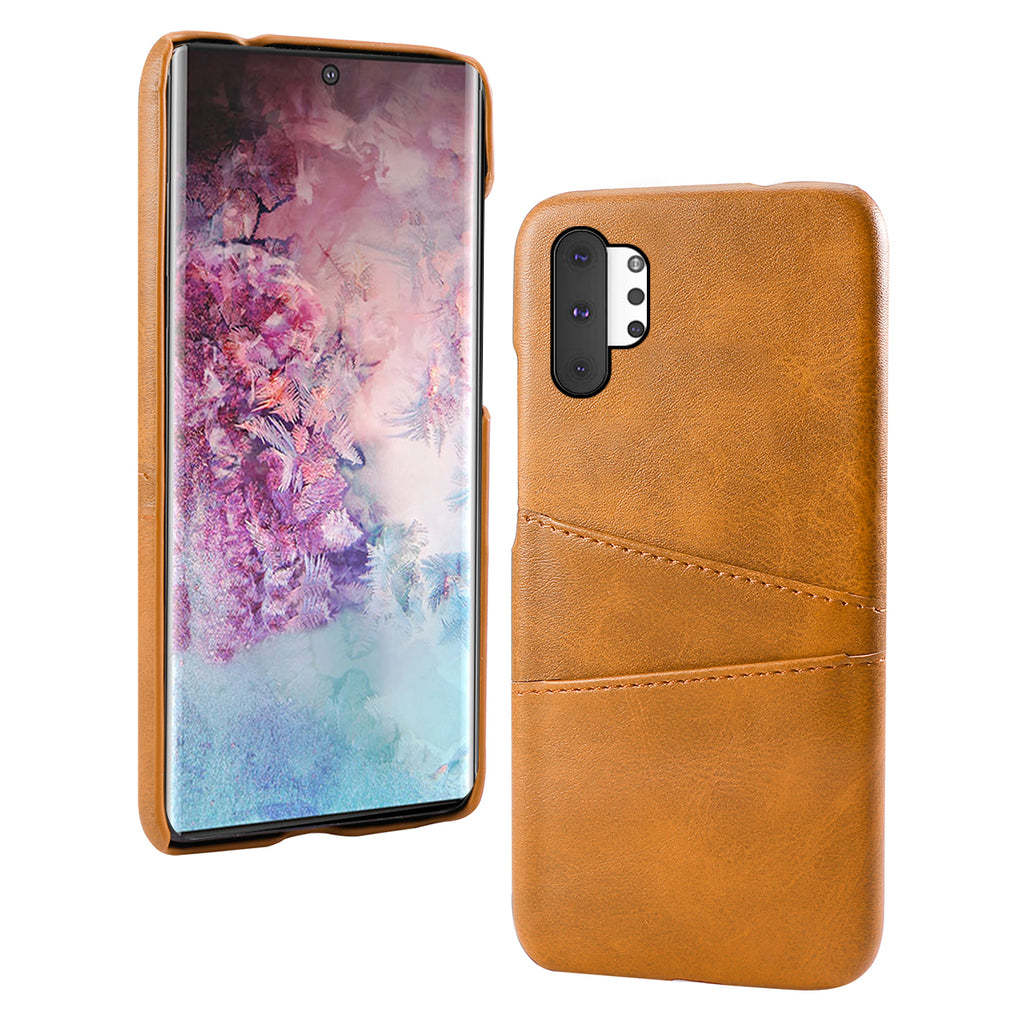 Samsung Galaxy Note 10 Plus 5G Cover with credit card holder leather case orange