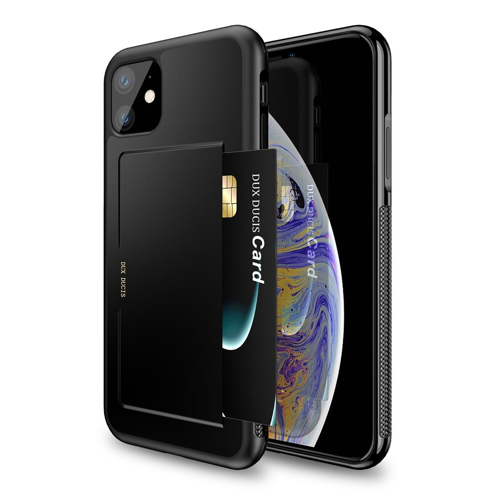 iPhone 11 case drop-proof reinforced corner protection cover with Card Slots Black