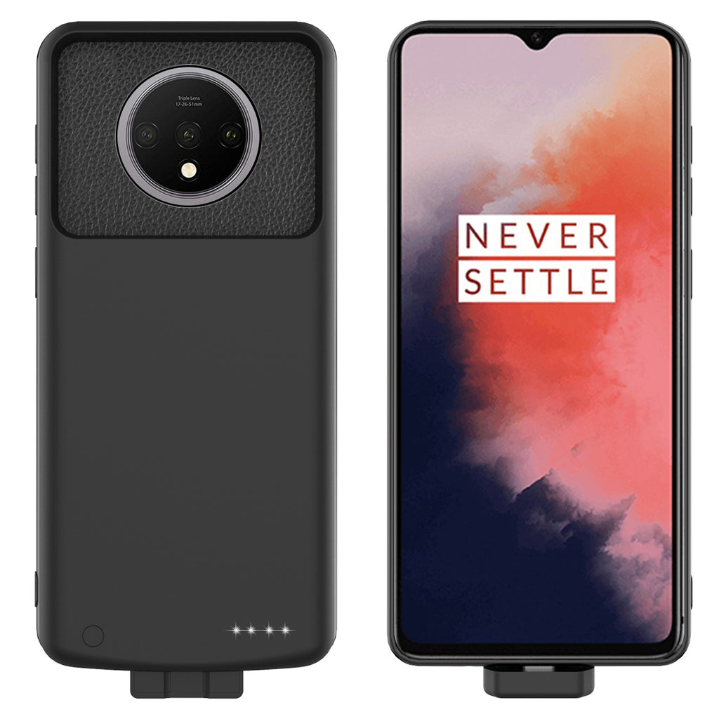 Oneplus 7T Battery Case Rechargeable Extended Pack 7000mah Power Bank Backup Black