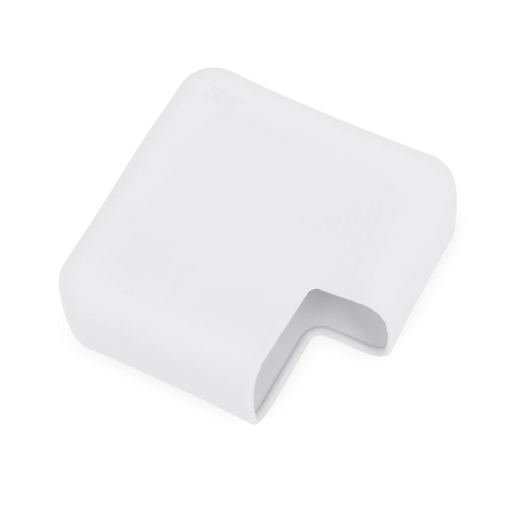 MacBook Pro 16 Inch Laptop Power Charger Protective Case Soft Silicone Protector Case White