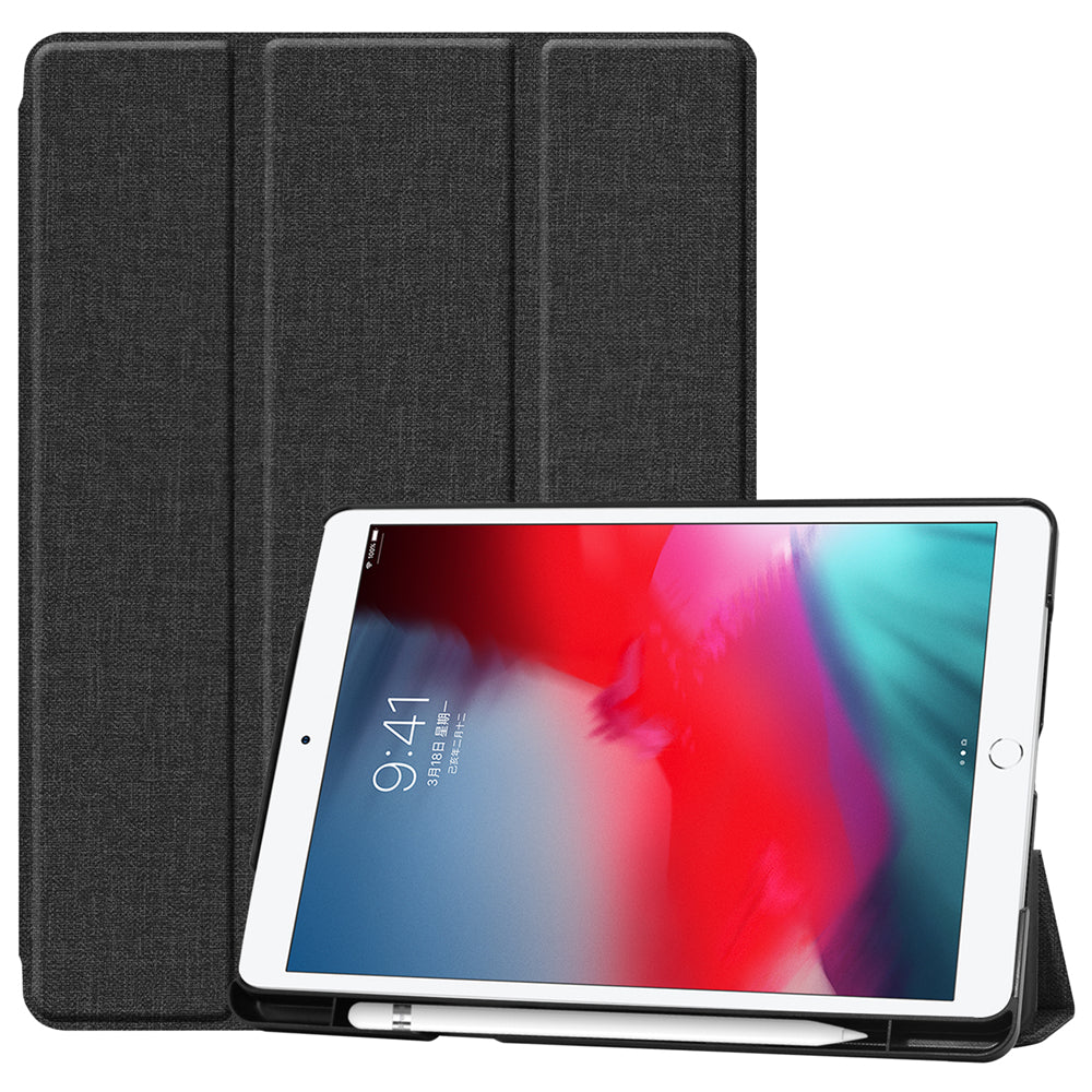 iPad 2019 10.2 Inch Leather Case Folio Flip Smart Cover with Pencil Holder & Kickstand