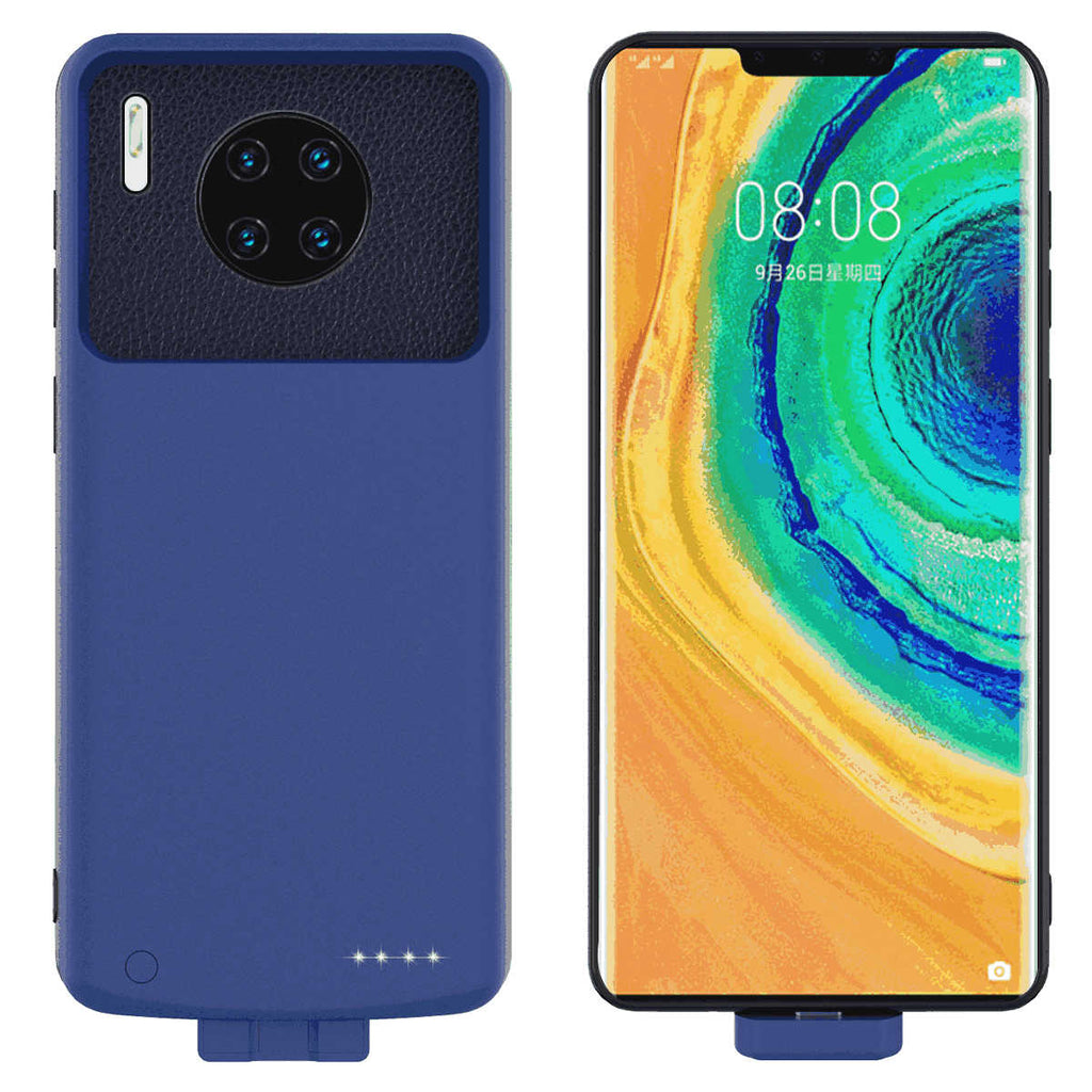 Huawei Mate 30 Pro Battery Case Magnetic Extended Charger 7000MAH Rechargeable Battery Pack Blue