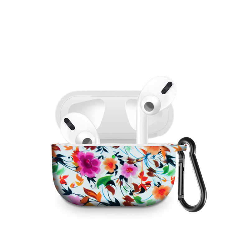 AirPods Pro Case Protective Silicone Cover Compatible with Apple AirPods Pro (Ink Flower)