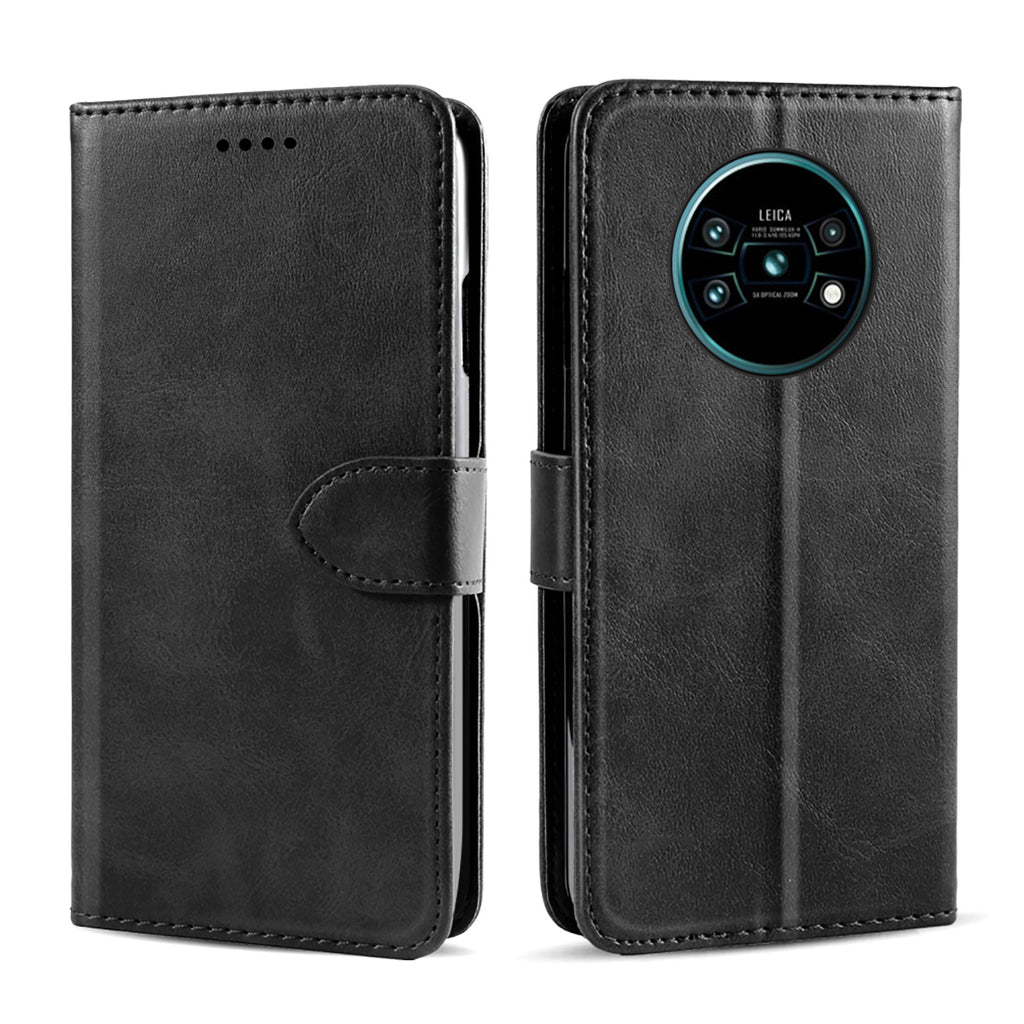 2-in-1 Wallet Case for Huawei Mate 30 Magnetic Closure Shock-Proof Slim Case Black