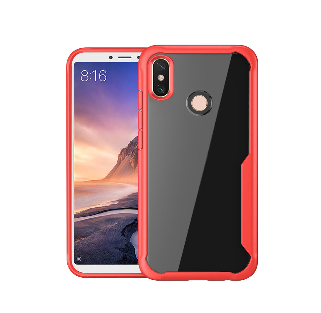 Huawei Nova 4 Cover Soft TPU Dropproof Shockproof Phone Protection Case Red