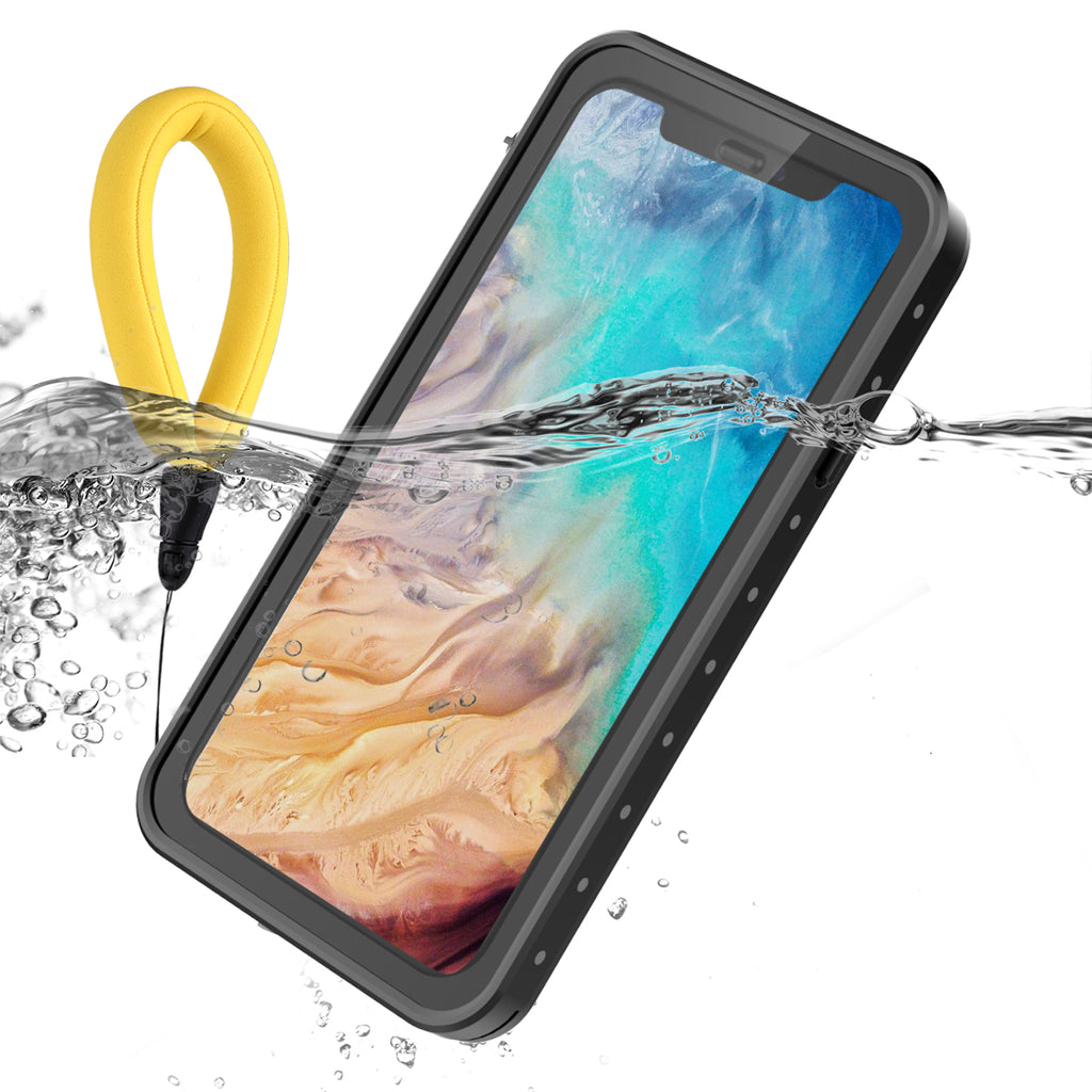 Moonmini iPhone XS Waterproof Case with Floating Strap