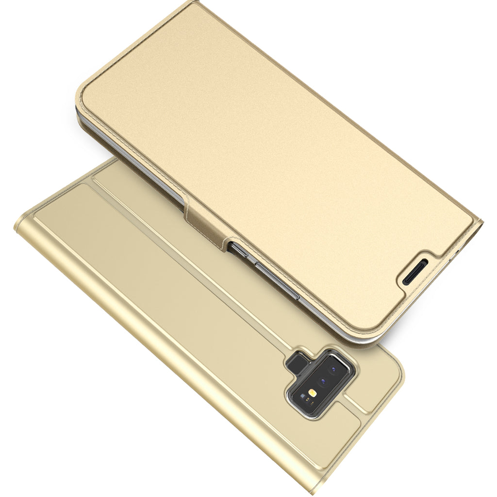 Samsung Galaxy Note 9 Wallet Case PU Leather  Golden
