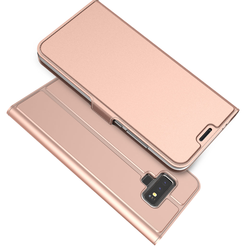 Samsung Galaxy Note 9 Leather Case PU Flip Stand Wallet Case Rose Gold