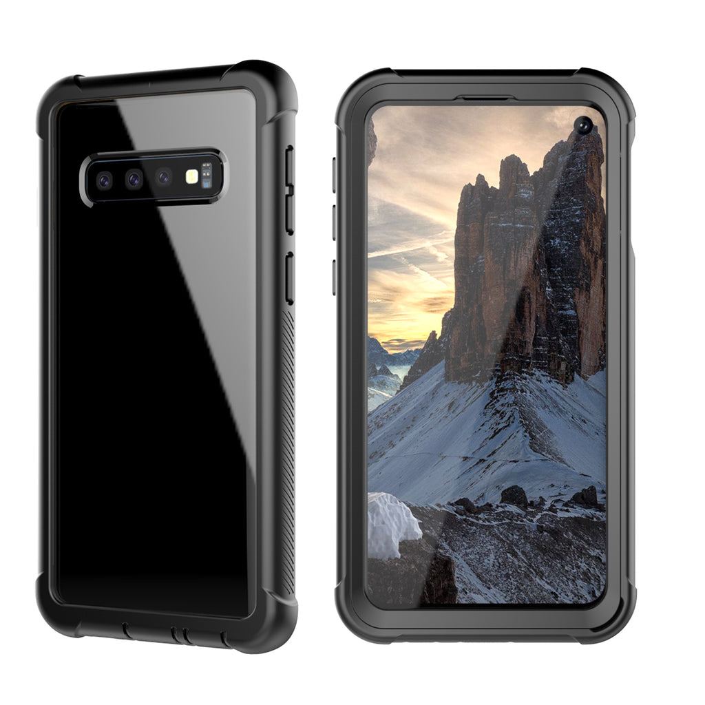 Cases for Galaxy S10 Samsung Full-Body Rugged Clear Hybrid Bumper Case