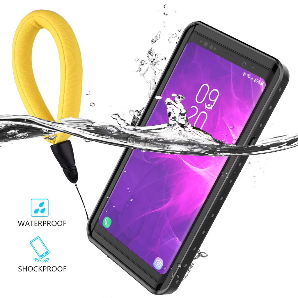 Samsung Galaxy Note 9 Waterproof Case with Buoyancy Cotton Black