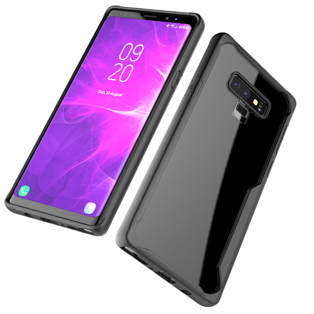 Samsung Galaxy Note 9 Case Soft TPU Dropproof Shockproof Phone Back Case Protection Cover (Black)