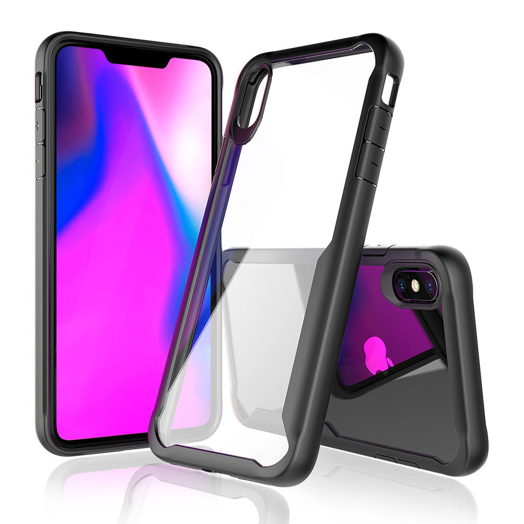 iPhone Xs Max Case Soft TPU Tang Design Dropproof Shockproof Phone Back Case Protection Cover Black