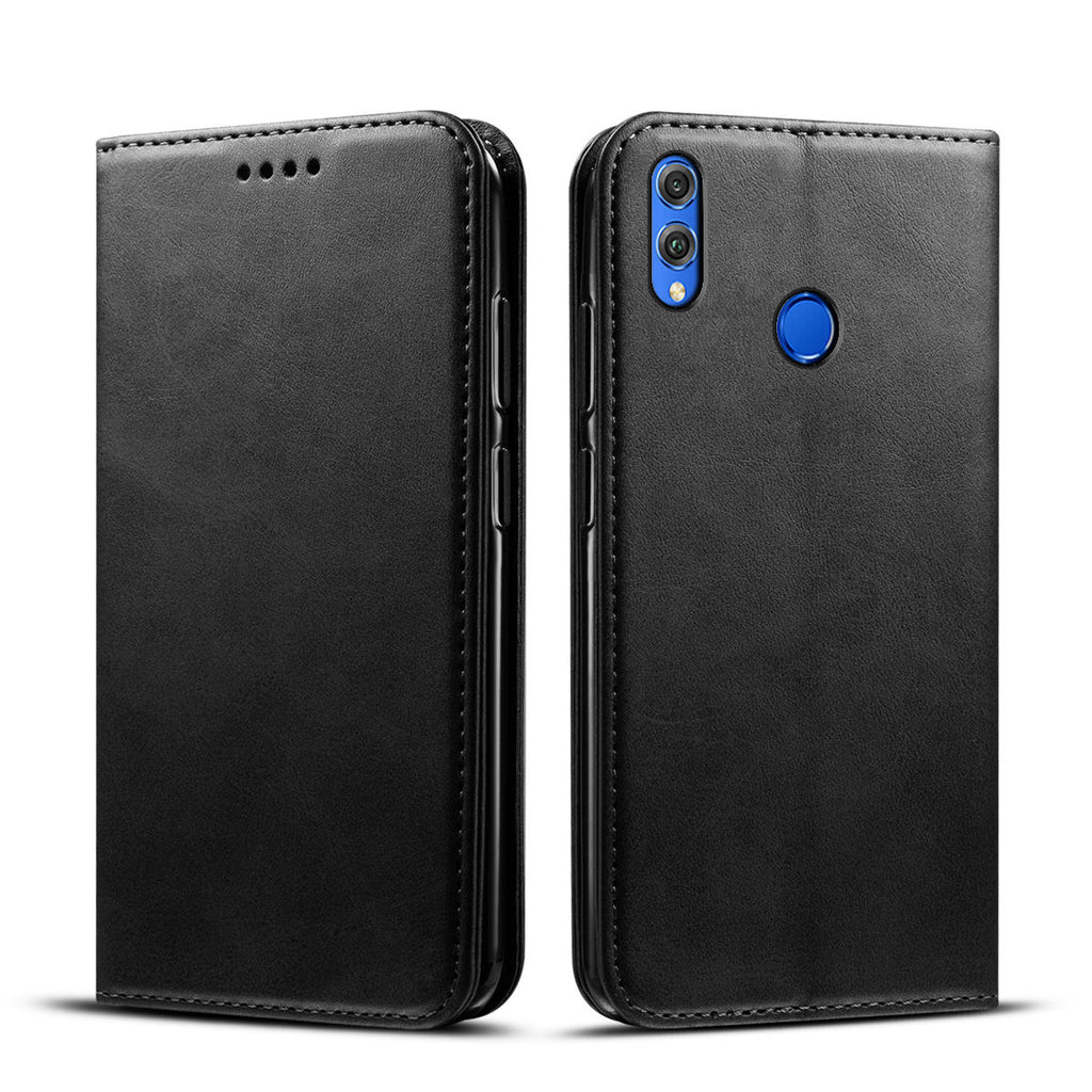 Huawei Honor 10 Lite 2019 Wallet Case Premium PU Leather Cover Black
