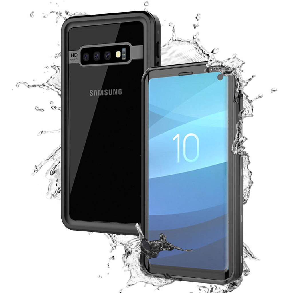 Galaxy S10 Waterproof Full-Body Heavy Duty Dropproof Shockproof Bumper Case