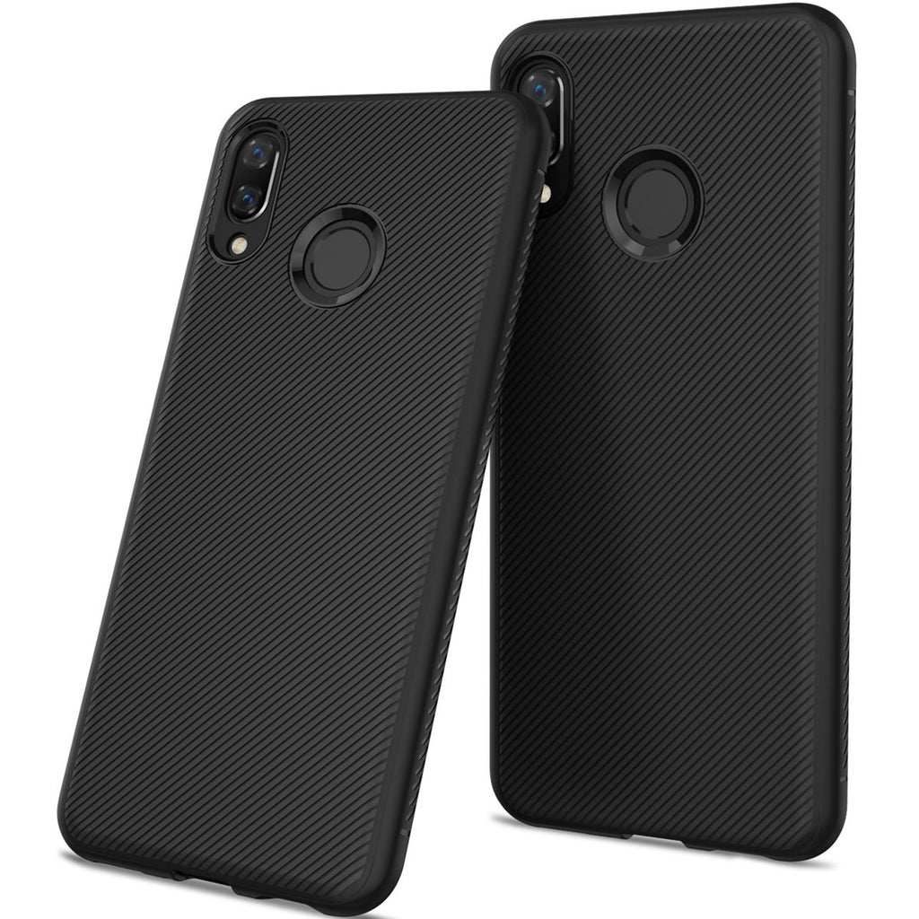 Huawei Honor 10 Lite 2019 Case Slim Shockproof Back Cover Defender Bumper Case Black