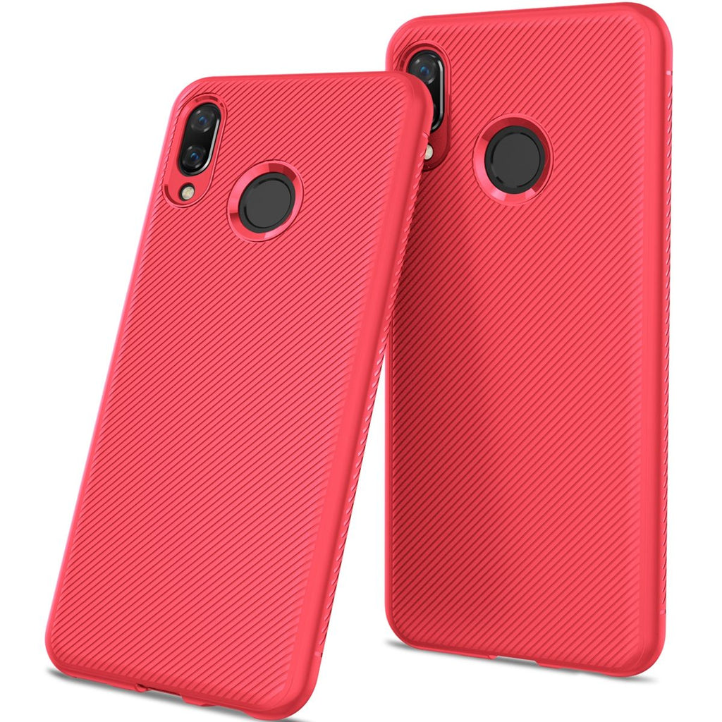 Huawei Honor 10 Lite 2019 Case Slim Shockproof Back Cover Defender Bumper Case Red