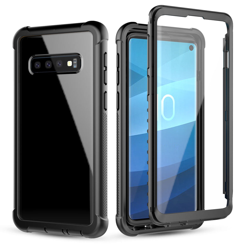 Samsung Galaxy S10 Case Full-Body Rugged Clear Hybrid Bumper Case