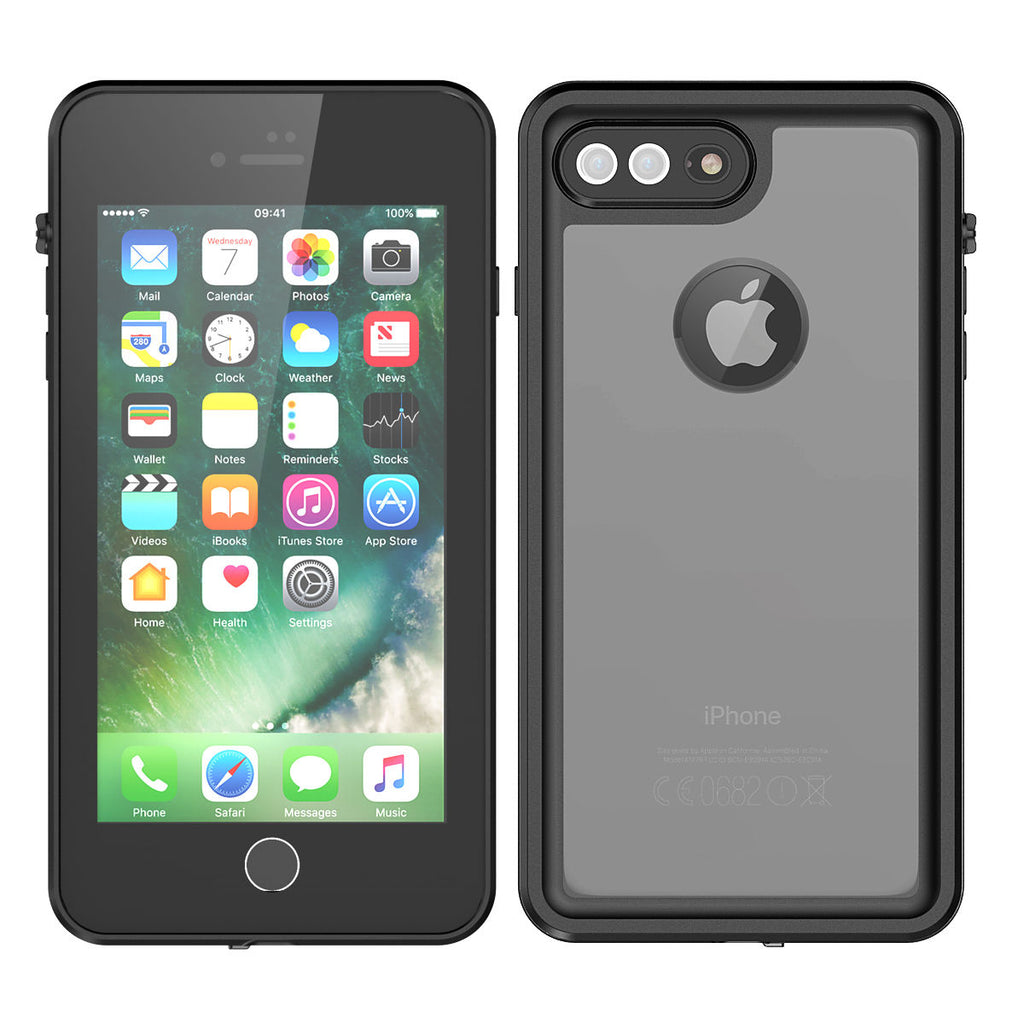 iPhone 8 Plus iPhone 7 Plus Waterproof Case 5.5 inch Ultra Slim Cover Black
