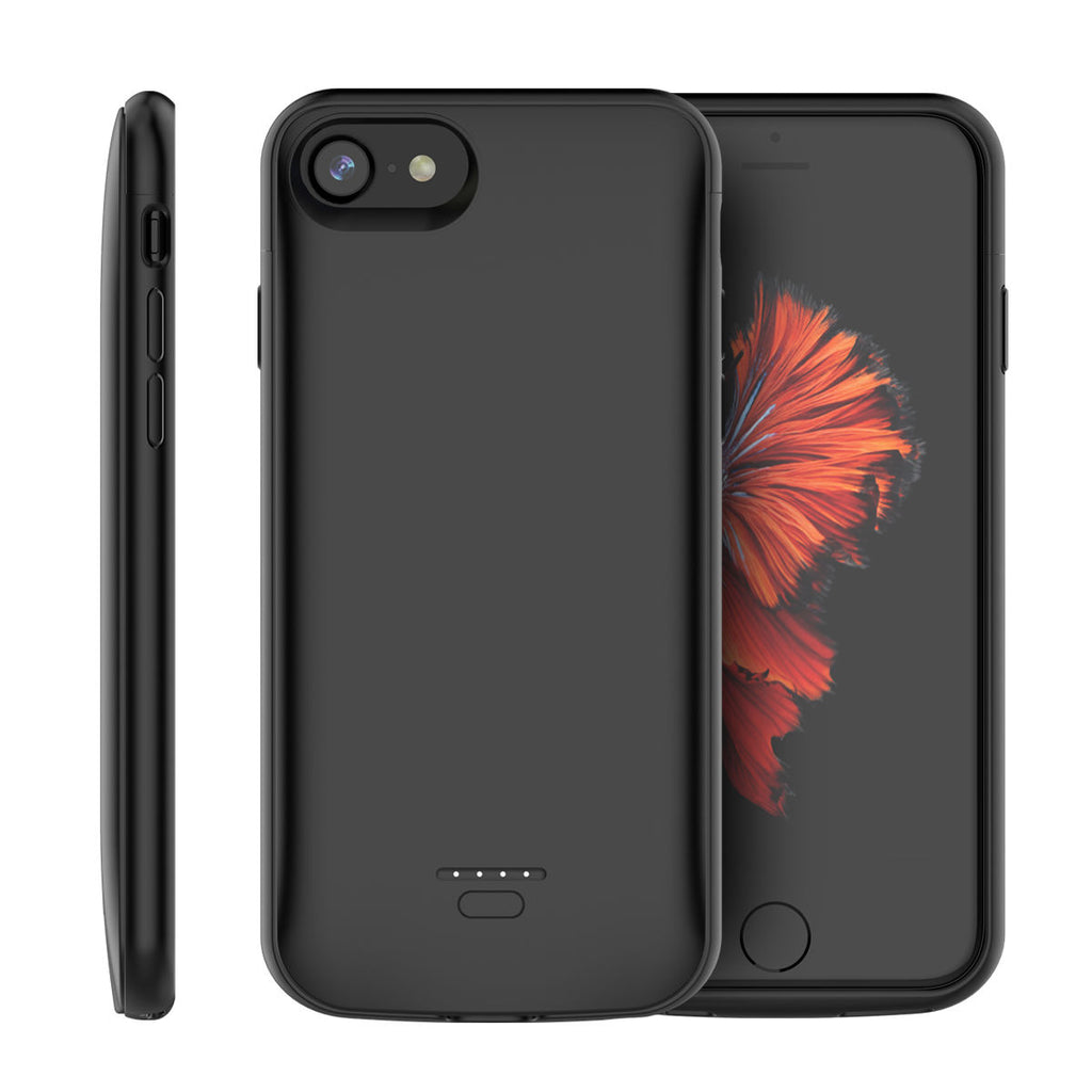iPhone 8 Battery Cas iPhone 7 iPhone 6 iPhone 6s Battery Charger Case 4000mAh External Backup Chargere Cover Black