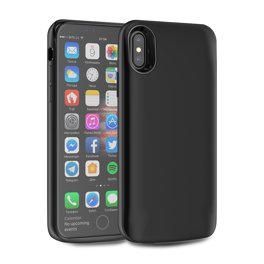 iPhone Xs Charger Case 3600mAh iPhone X External Battery Cover Black