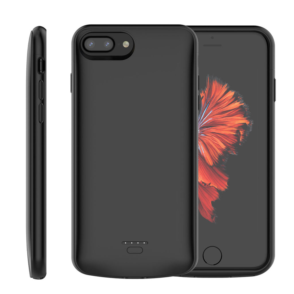 iPhone 8 Plus Battery Case 5.5 iPhone 7 Plus iPhone 6 Plus iPhone 6s Plus 5500mAh External Backup Chargere Cover Black