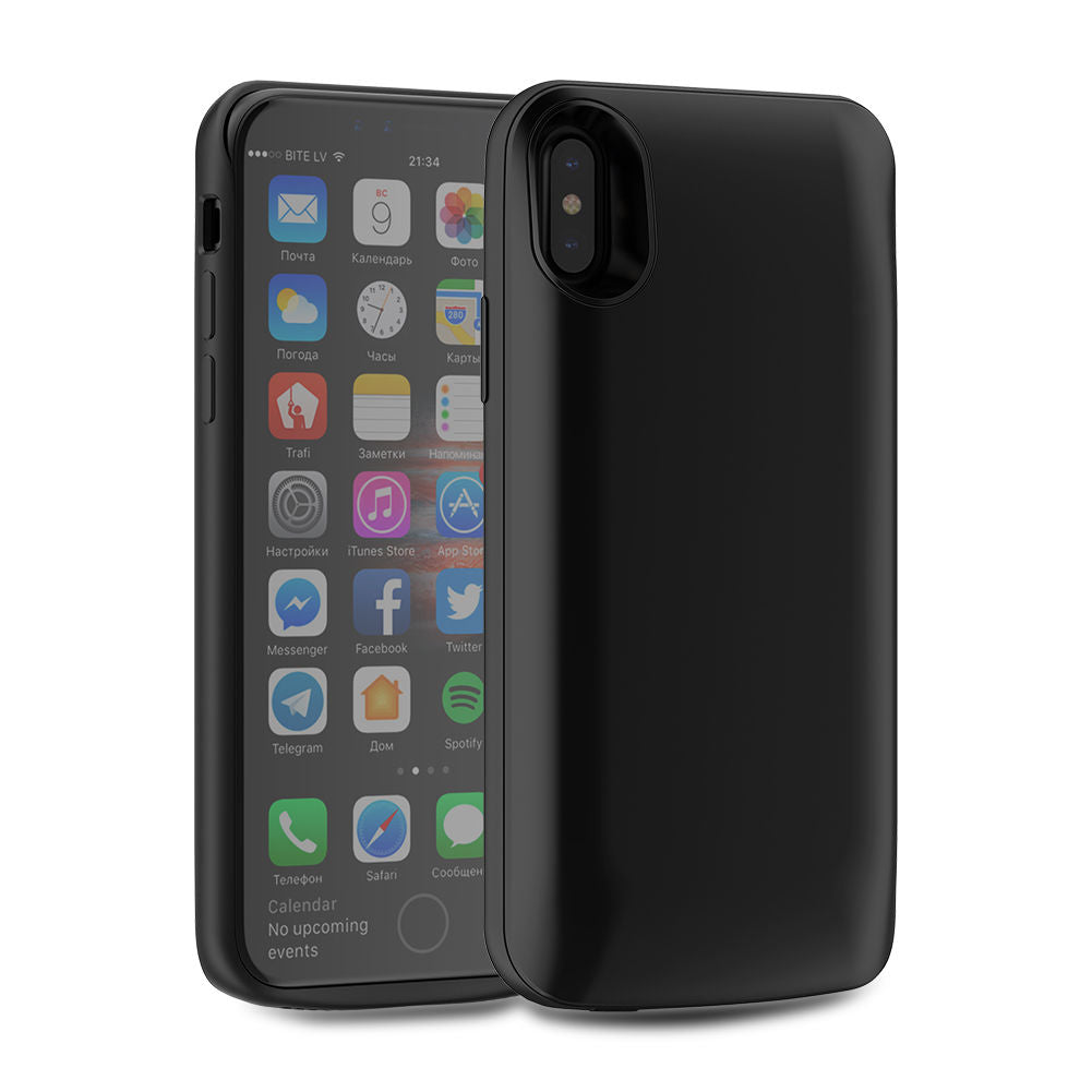 iPhone Xs Battery Case 6000mAh iPhone X External Backup Charger Cover Black