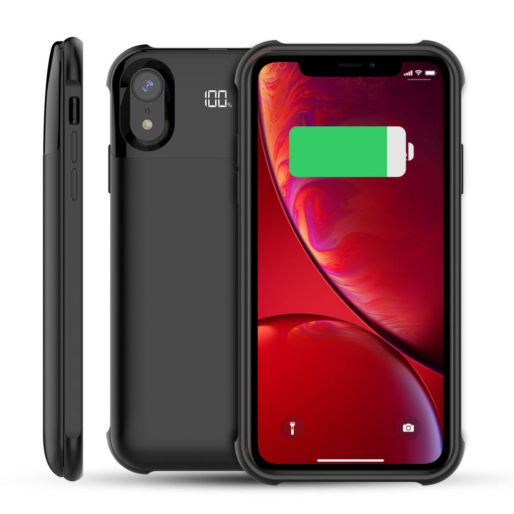 iPhone Xs Battery Case 5000mAh iPhone X External Backup Power Bank Charger Cover Black