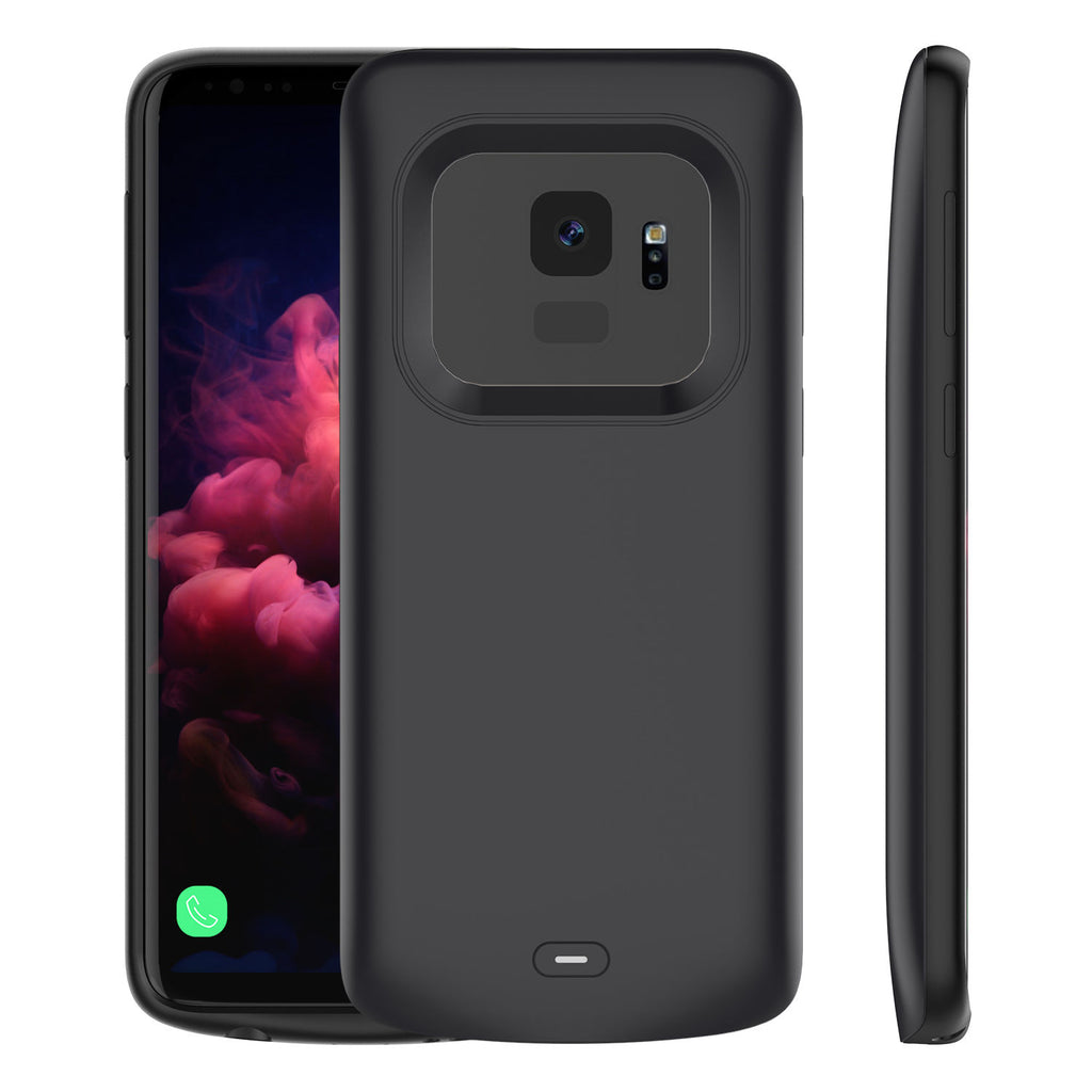 Galaxy S9 Battery Case 4700mAh Samsung External Backup Charger Power Bank Protective Cover Black
