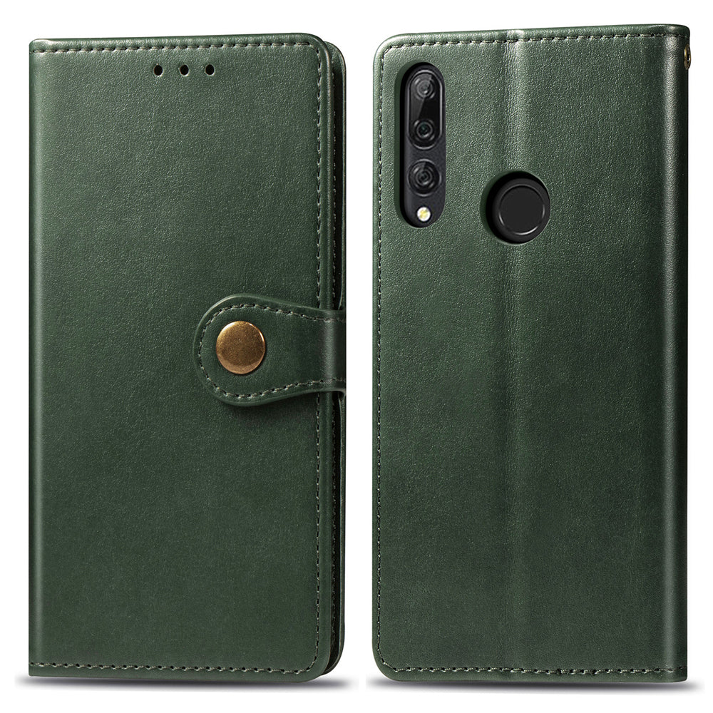 HUAWEI Y9 PRIME 2019 Leather Wallet with Viewing Stand and Card Slots Flip Cover Green