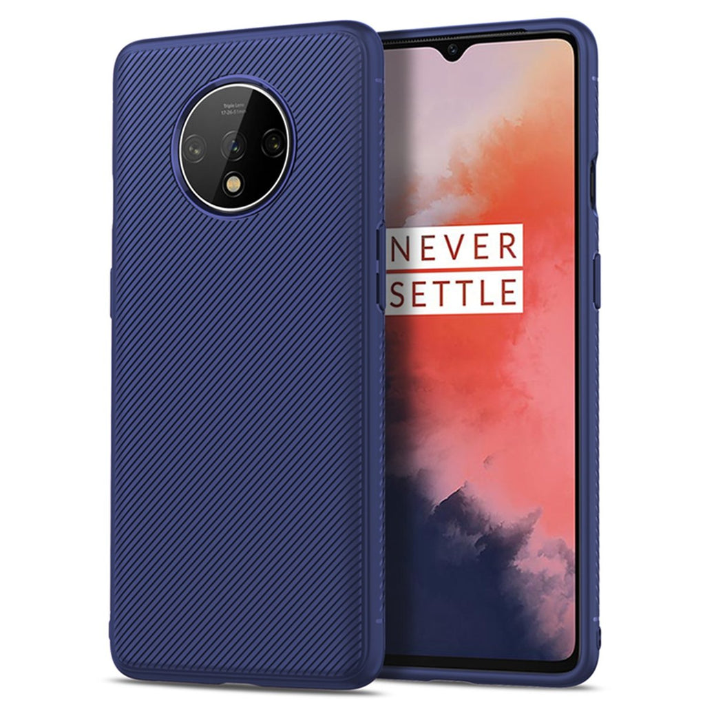 OnePlus 7T Case TPU 360 Degree Protection Full-Body Rugged Heavy Duty Case Dark Blue