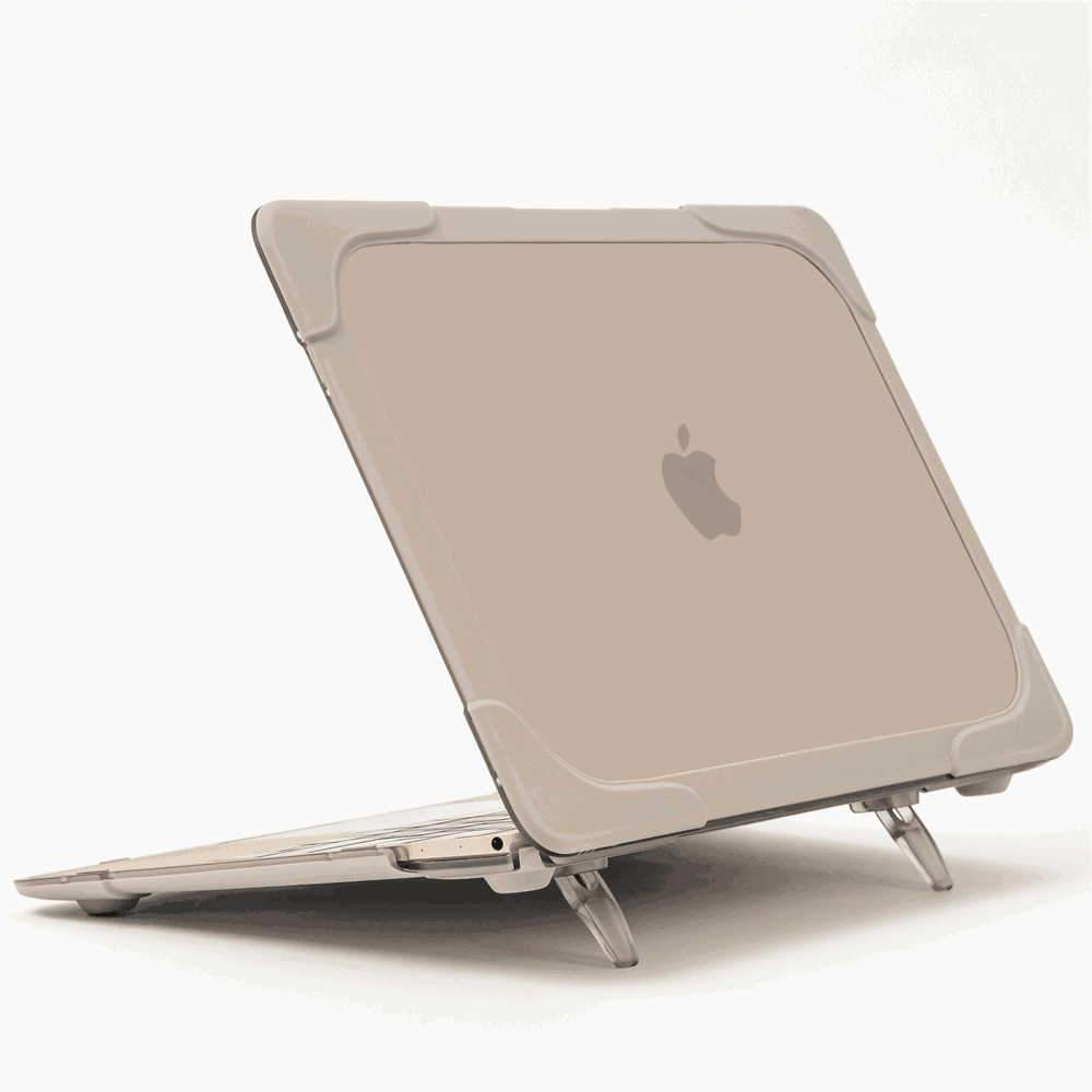 Transparent Case Cover Skin for MacBook 12 inch Ultra Thin Hybrid Laptop Protective Shell with Stand Khaki