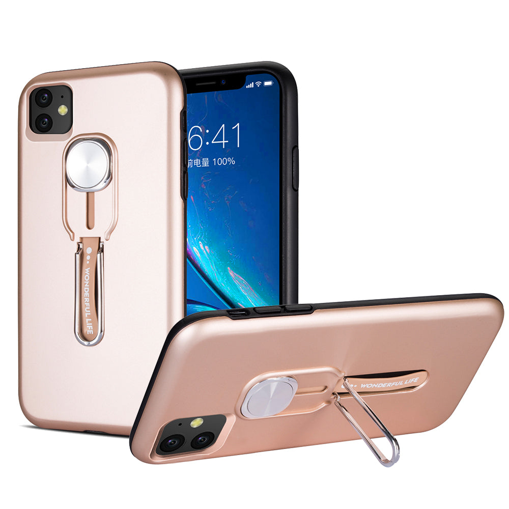 iPhone 11 Case for Women Heavy Duty Protection Hard PC + Flexible TPU Cover Rose Gold