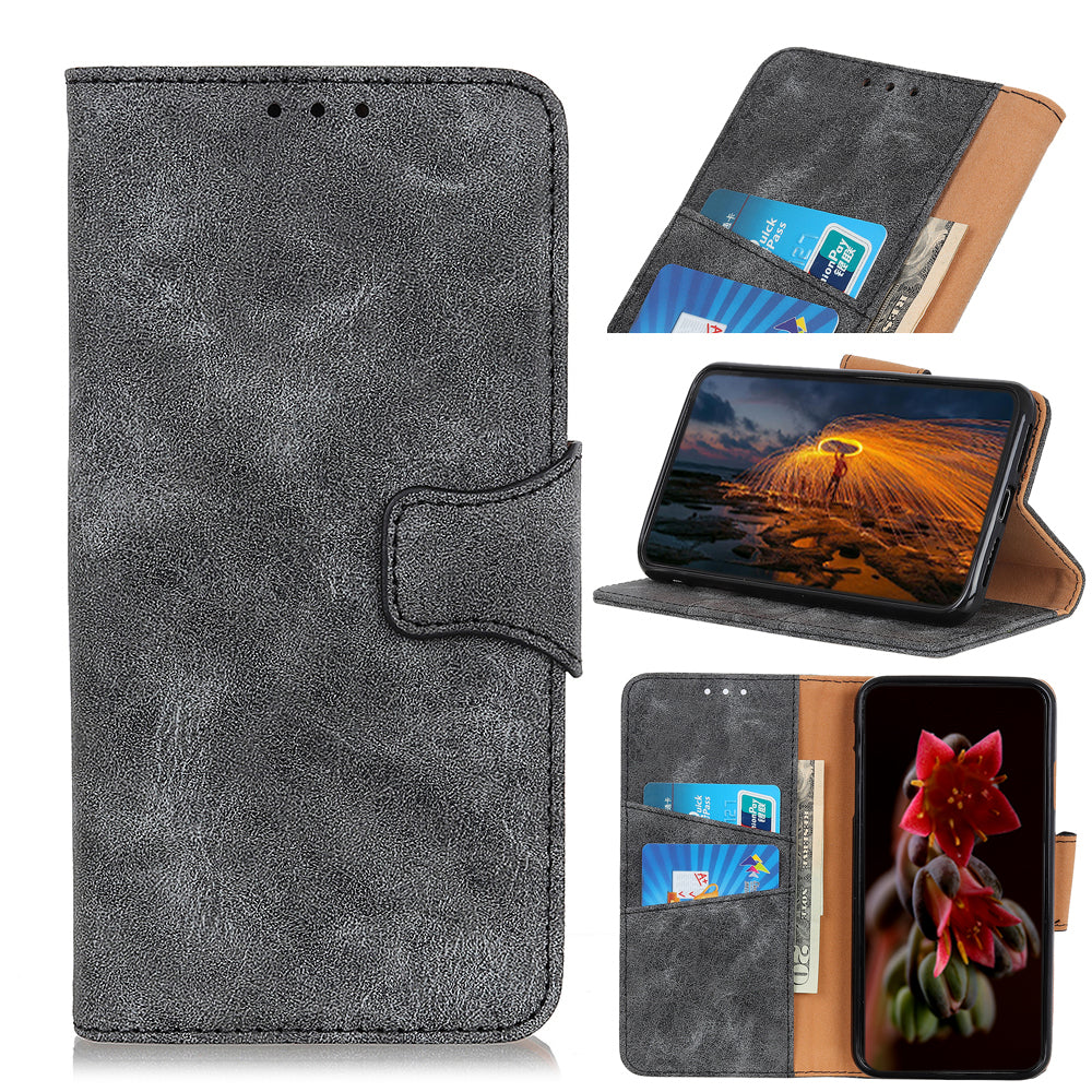 Wallet Case for Huawei Honor V30 with Credit Card Holder Pocket Wallet Magnetic Cover Grey