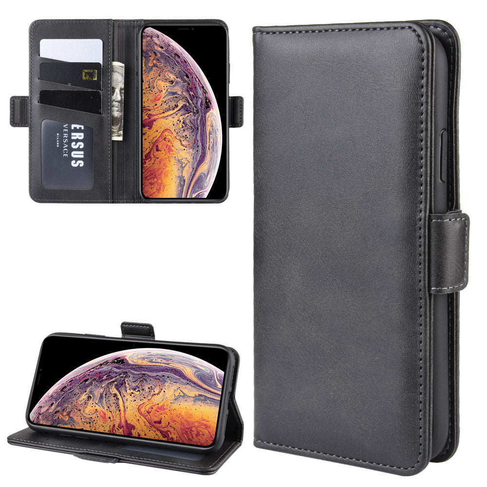 iPhone 11 pro max Wallet Case Slim Lightweight with ID Card Holder & Magnetic Closure Black