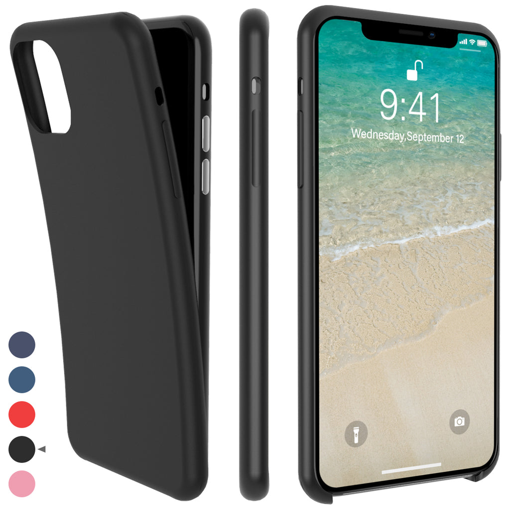 iPhone 11 Pro Case Protective Cover with Soft Silicone Bumper Thin Case Black