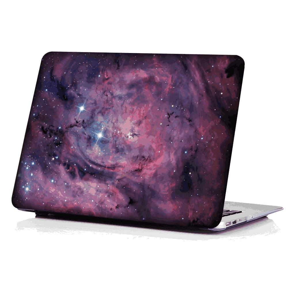 Macbook Pro 16 Inch Case 2019 Release Stars Pattern PC Hard Case Drop-proof Shell Cover (Galaxy)