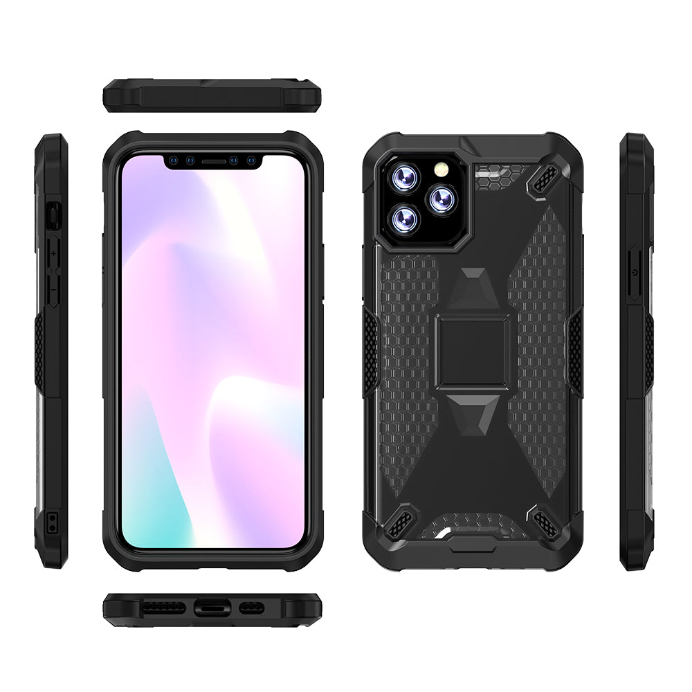 Case for iPhone 11 Pro Shockproof Raised Bezels Heavy Duty Protective Armor Cover Black