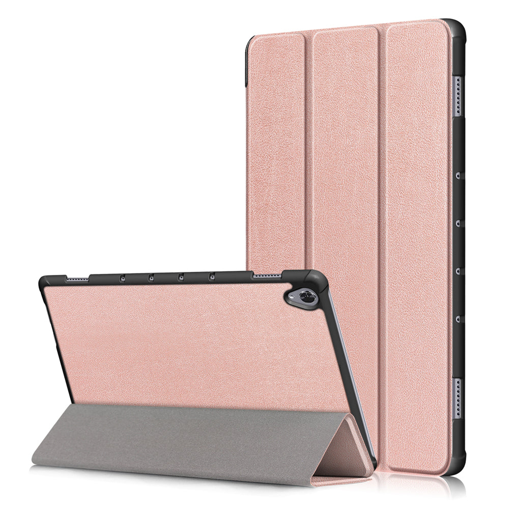 Leather Case for Huawei MediaPad M6 10.7 inch 2019 Stand Case Auto Sleep/Wake for Women Rose Gold